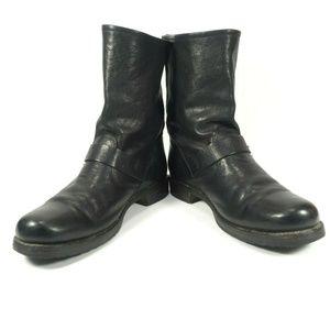 Frye Shoes - Frye Black Leather Engineer Moto Biker Boots